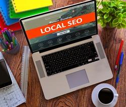 Local SEO. Internet Marketing Concept.