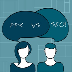 Text sign showing Ppc Vs Seo. Conceptual photo Pay per click against Search Engine Optimization strategies.